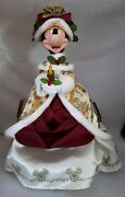 Walt Disneyland World Red And Gold Minnie Mouse 2010 Christmas Tree Topper Rare Z