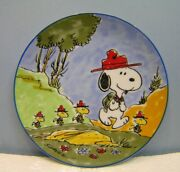 Schmid Snoopy And The Beagle Scouts 7.5 Collectors Plate 1984 Coa