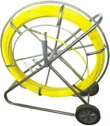 Duct Rodder Fish Tape Continuous Fiberglass Wire Cable Running Puller 12mm 393ft