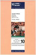 Chicago Bears At Detroit Lions 12-16-1990 Full Nfl Ticket Dennis Gentry Photo