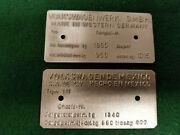 Vw Built In Mexico Or Germany Bug - Thing - Bus Data Plate Stamped Choice