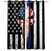 The Punisher 2 Panels Blackout Curtains Thicken Thermal Living Room Window Drape
