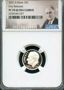 2021 S Silver Roosevelt Dime First Releases Ngc Pf70 Ultra Cameo Portrait