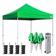 Eurmax 8'x8' Ez Pop Up Canopy Tent Commercial Instant Canopies With Heavy Duty