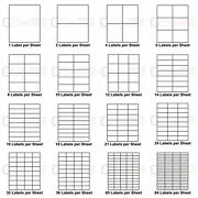 Address Labels Stickers White A4 Sheets Self Adhesive Inkjet Paper Laser Printer