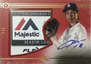 Limited To 1/1 Piece Kenta Maeda Direct Written Sign Tag Patch 2017 Topps