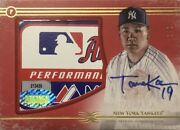 Limited To 1/1 Piece Masahiro Tanaka Direct Written Sign Tag Patch 2017 Topps