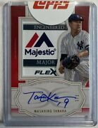 Limited To 1/1 Piece Masahiro Tanaka Direct Written Sign Tag Patch 2020 Topps
