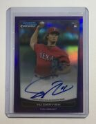Limited To 10 Sheets Darvish Direct Writerokie Sign 2012 Bowman Chrome Draft