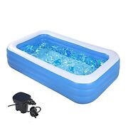 """Swimming Pools With Pump-inflatable Kiddie Pool-122""""x70""""x 27""""full-sized"""