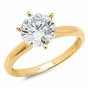 0.5 Ct Brilliant Round Cut Natural Diamond Stone 14k Yellow Gold Solitaire Ring