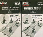 Kato N Scale Unitrack Crossing Gate Rerailing Track 4 7/8 124mm 20-027 Lot Of 2