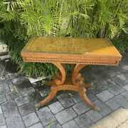 Antique Style Baker Game Table Federal Style
