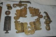 Antique Ice Box Paul J Daemicke Chicago Hinges And Handles Etc. Brass Hardware
