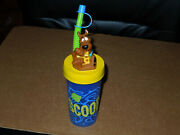 Vintage Hanna Barbera Scooby-doo Cup Lid With Straw Tumbler Zak Designs