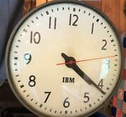 Vintage Ibm Industrial Wall Clock. Second Hand And Clock Work.
