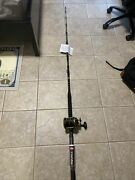 New Penn Squall 50 Ld Lever Drag Conventional Reel Fishing Rod Combo 6and0396