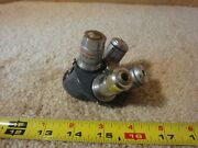Vintage American Optical, Spencer Microscope Objective Set. 4/.12, 10/.25, 40x