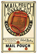 Vintage Style Tobacco Sign Mail Pouch Chewing Cigar 13 X 19