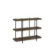Saltoro Sherpi 3 Tier Metal Framed Bookcase With Wooden Storage Shelves Small