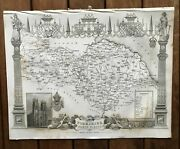 1837 Map Of Yorkshire North Riding By Moule.