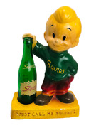 Squirt Chalkware Advertising Figure -just Call Me Squirt- Boy W Bottle C1947