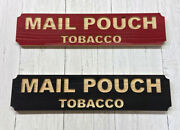 Mail Pouch Rustic Carved Cedar Wood Sign