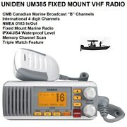 """Uniden Um385 Fixed Mount Vhf Radio - With Canadian Marine Broadcast """"b"""" Channels"""
