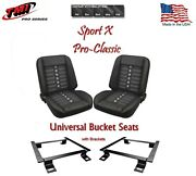 Sport X Pro Classic - Complete Universal Bucket Seat Set With Brackets