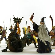 Papo Fantasy Figures Lot Of 22 - Mounts Knights Wizard Robin Hood