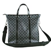 Louis Vuitton Damie Graphit Tadao N51192 Hand Bag From Japan 997