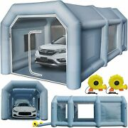 26x13x10ft Inflatable Car Workstation Spray Booth Paint Tent Portable Garage