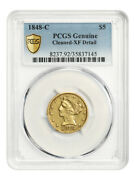1848-c 5 Pcgs Xf Details Cleaned Affordable Branch Mint Issue