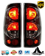 For 1999-2006 Chevy Silverado 1500 2500 3500 Tail Lights Lamps Pair Black Clear