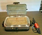 Rare Vintage Kenmore Sears Waffle Iron Griddle Model 307 6470-works Great