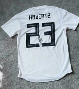 Kai Havertz Fc Chelsea Match Worn And Signed Germany Rare 23 Jersey Autographed