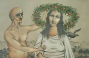 Yehuda Sibony 1953-, Pastel And Colored Pencils, Realistic Fantastic , Signed
