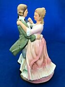 Vintage Made In Japan Music Box Porcelain Dancing Victorian Couple Dr Zivago