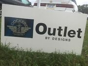 Ny Outlet Store Sign Original Dockers Commercial Advertising Vintage Logo
