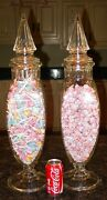 Large Pair Glass Display Containers Candy Store 26 Inches Tall----15634