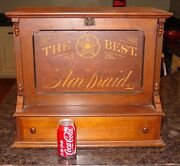Neat Star Braid Sewing Spool Thread Cabinet W Fitted Interior------1515636