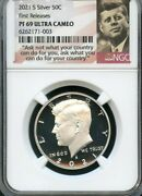 2021 S Silver Kennedy Half Dollar First Releases Ngc Pf69 Uc Portrait