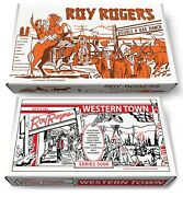 Marx Roy Rogers Double R Bar Ranch Play Set Box Or Roy Rogers Western Town Box