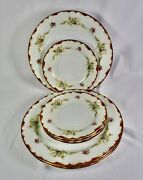 Aladdin Wembley 4 Dinner Plates And 4 Bread And Butter Plates Occupied Japan