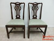 Pair Statton Old Towne Chippendale Dining Room Side Chairs B