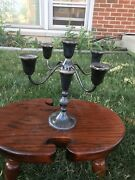 Duchin Creation Sterling Weighted Candelabra 5 Candle Holder Set Of 2 Pair