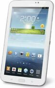Samsung Galaxy Tab 3 Tablet T210r 8gb,, 7in - White With Otter-box Case