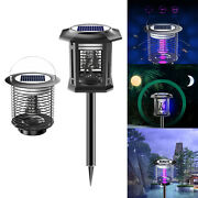 Solar Power Electric Mosquito Killer Fly Bug Insect Zapper Light Decor