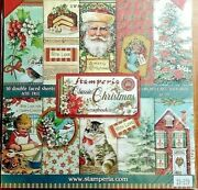 Classic Christmas Stamperia 10 Double Faced Sheets 8x8 Scrapbooking Paper Pack