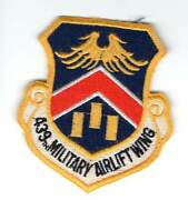 Old Usaf Patch - 439th Military Airlift Wing C-5 Westover Afb Massachusetts